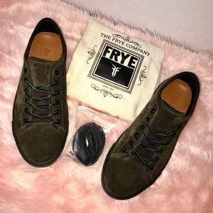 New Frye men's suede sneakers
